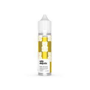 only liquids-white gummy, mellow fruit flavours combined to create the ultimate gummy blend