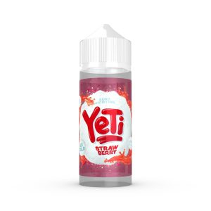 Strawberry E-liquid by Yeti 100ml is a juicy blend of sweet Strawberries with juicy notes on the inhale, followed by an ice cold Menthol on the exhale.