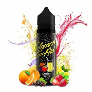 lemon aid summer fruits 50mlSummer in a bottle! - featuring sweet orange, blackcurrant and strawberries, blended with lip smacking lemons. This is a summer sensation that works for all seasons!