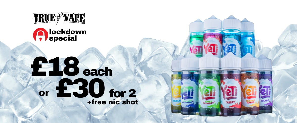 yeti e-liquids promo header no.1-available@true-vape.com
