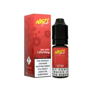 Bad Blood nicotine salt e-liquid has a strong blackcurrant flavour that is present throughout, combined with low mint to create a cooling sensation that also serves to sweeten the berry. This flavour combination creates a light and juicy tasting inhale, with an icy finish.available@true-vape.com