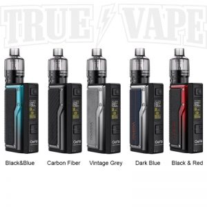 The VooPoo Argus GT vape kit combines a high power output and a modern build, resulting in an intelligent sub ohm vape kit we recommend to intermediate and advanced vapers. Powered by two 18650 vape batteries it's capable of a 160W max output and features lightweight materials in its construction.buy now@true-vape.com